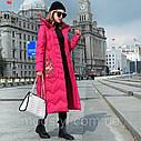 Зимовий жіночий пуховик з вишивкою, жіноче товсте пальто в ретро-стилі 5 кол, фото 4