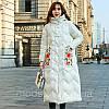 Зимовий жіночий пуховик з вишивкою, жіноче товсте пальто в ретро-стилі 5 кол