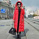 Зимовий жіночий пуховик з вишивкою, жіноче товсте пальто в ретро-стилі 5 кол, фото 5