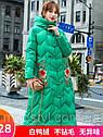 Зимовий жіночий пуховик з вишивкою, жіноче товсте пальто в ретро-стилі 5 кол, фото 2