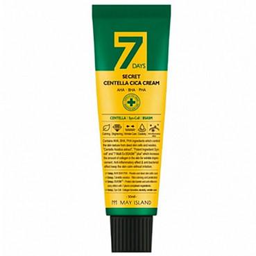 Крем для проблемної шкіри з центеллой і кислотами May Island 7 Days Secret Centella Cica Cream AHA/BHA/PHA 50ml