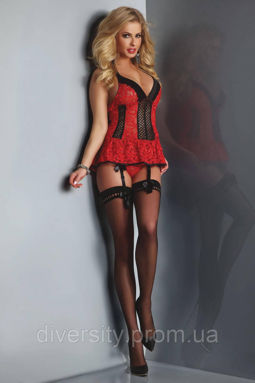 Red Rose корсет червоний Livia Corsetti Fashion (S/M)