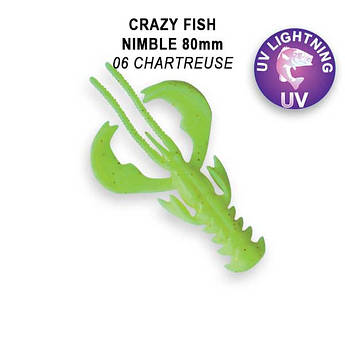 """Съедобный силикон Crazy Fish Nimble 3.2"""" 72-80-6-6-F кальмар"""