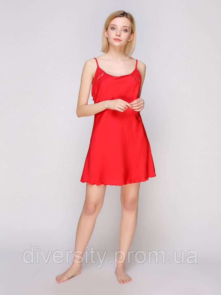 182 Сорочка шовк червона Serenade (S)