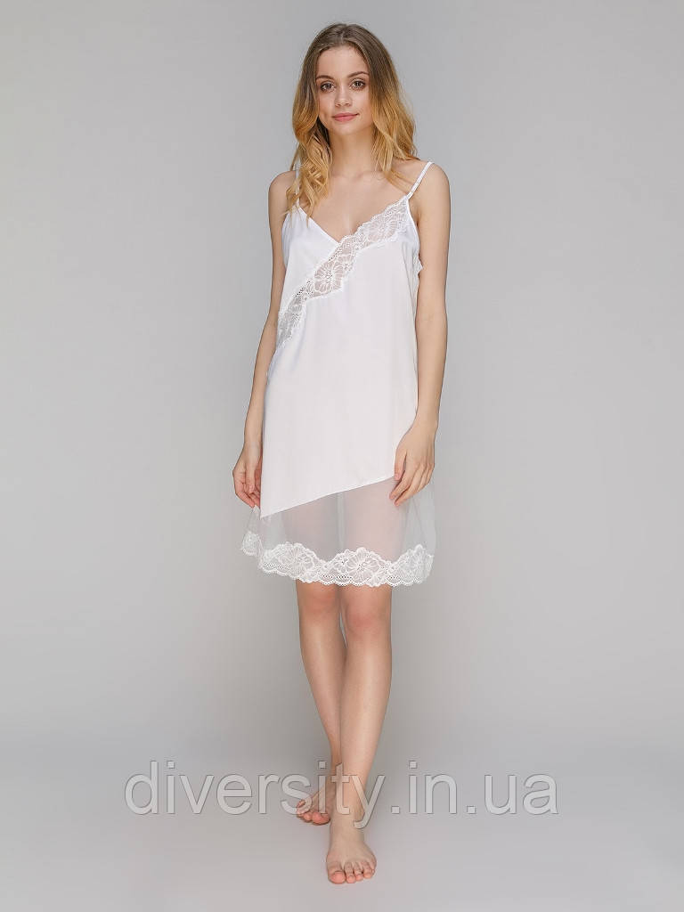192 Сорочка шовк біла Serenade (S)