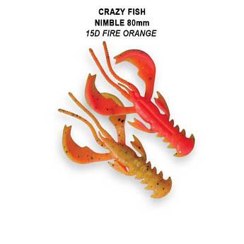 """Съедобный силикон Crazy Fish Nimble 3.2"""" 72-80-15d-6-F кальмар"""