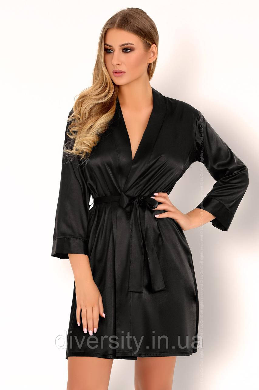 Edelina халат чорний Livia Corsetti Fashion (L)