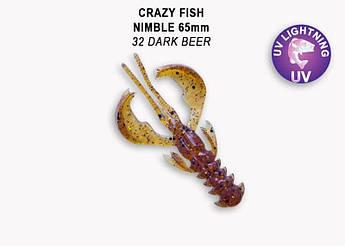 """Съедобный силикон Crazy Fish Nimble 2.5"""" 44-65-32-6 кальма"""