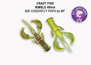 """Съедобный силикон Crazy Fish Nimble 2.5"""" 44-65-30d-6 кальмар"""