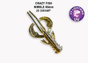 """Съедобный силикон Crazy Fish Nimble 2.5"""" 44-65-26-6 кальмар"""