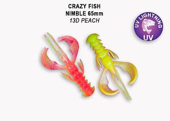 """Съедобный силикон Crazy Fish Nimble 2.5"""" 44-65-13d-6 кальмар"""