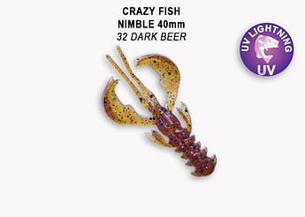 """Съедобный силикон Crazy Fish Nimble 1.6"""" 49-40-32-6 кальмар"""