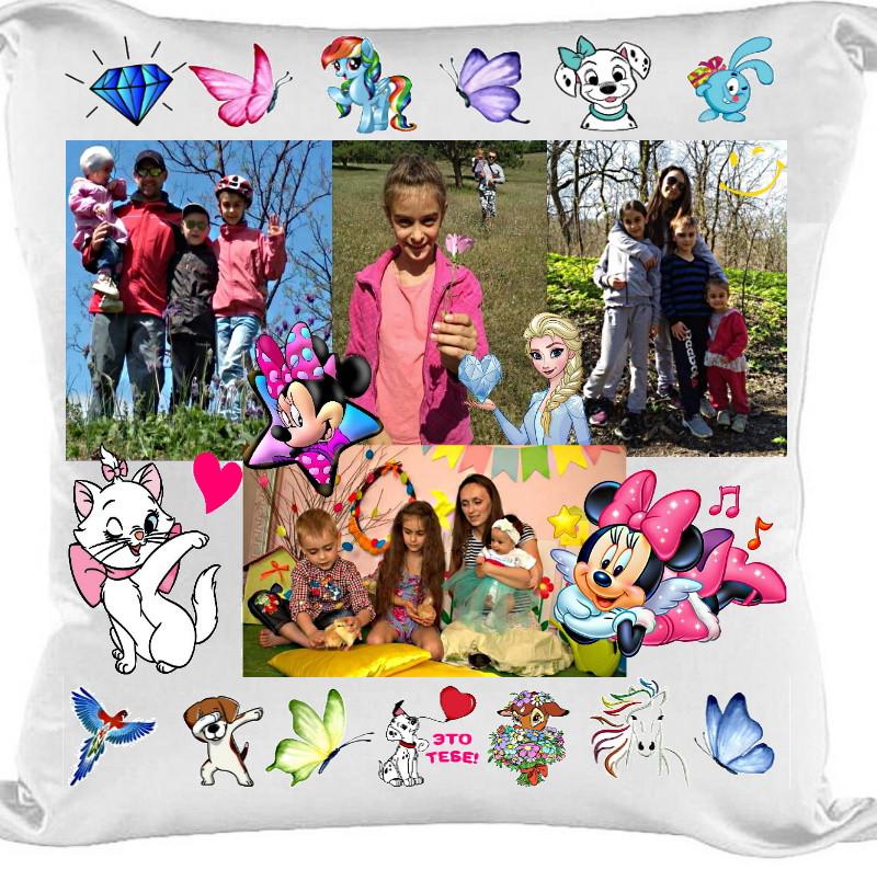 Подушка с фото на заказ (любой дизайн)