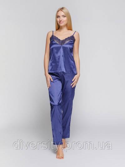 437 піжама атлас синя Serenade (S)