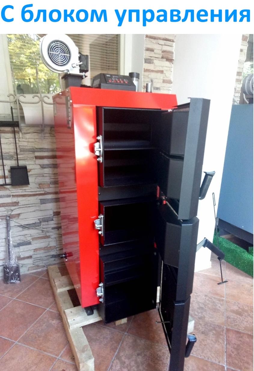Лучший котел длительного горения Kraft серия L 15 кВт на электронном управлении сталь 6 мм!!  / Крафт L