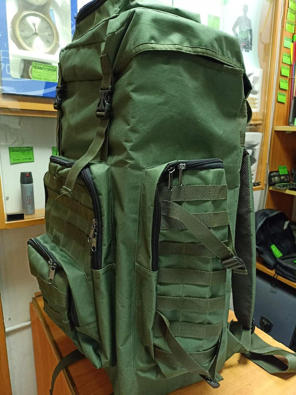 Рюкзак 75 литров олива ( черный)