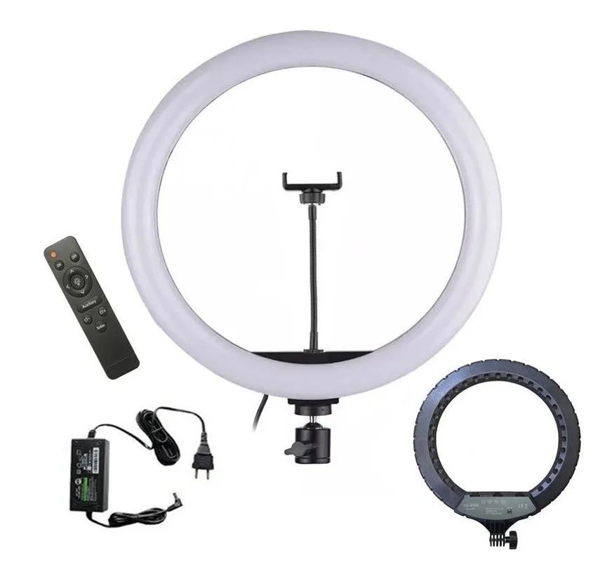 Подсветка и вспышка светодиодная для селфи, круглая лампа Led, Selfie кольцо для фото, набор блогера YQ460B