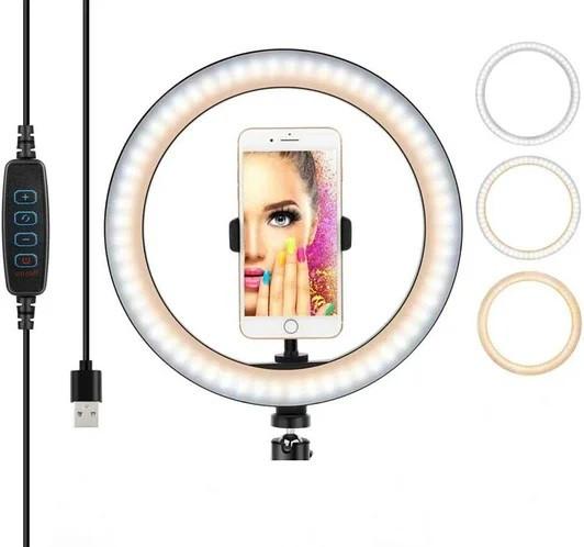 Подсветка и вспышка светодиодная для селфи, круглая лампа Led, Selfie кольцо для фото, набор блогера YQ320 MB