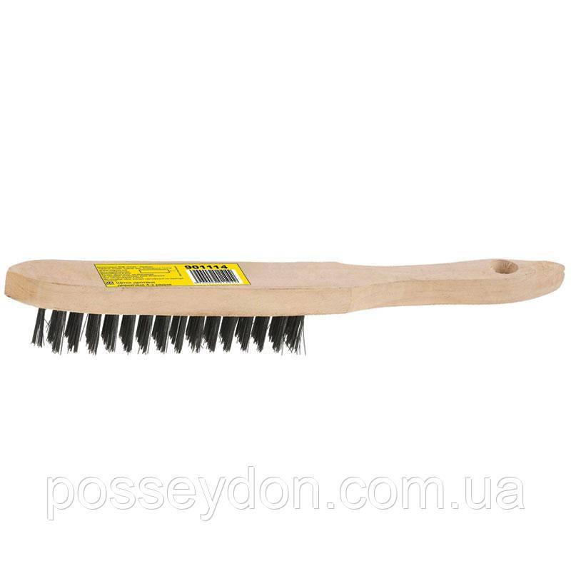 Щётка проволочная деревянная 6-ти рядная SIGMA (9011161)