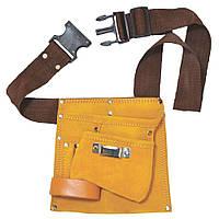 Пояс слесарный (кожаный) 5 карманов GRAD (9450755)