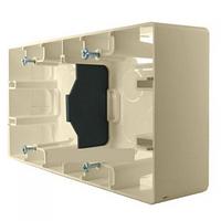 Коробка для накладного монтажа 2-постовая Легранд – «Этика» цвет «слоновая кость»