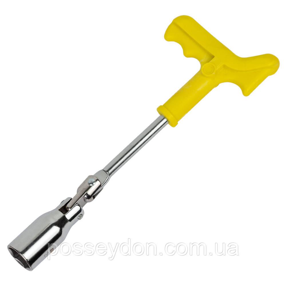 Ключ свечной с шарниром усиленный 21мм SIGMA (6030341)
