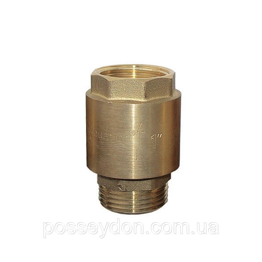 """Клапан обратный 1""""M×1""""F (латунь) AQUATICA (779645)"""