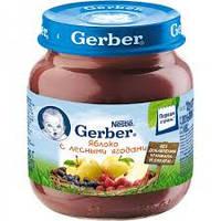 Пюре яблоко, лесные ягоды Гербер Gerber, 130 г