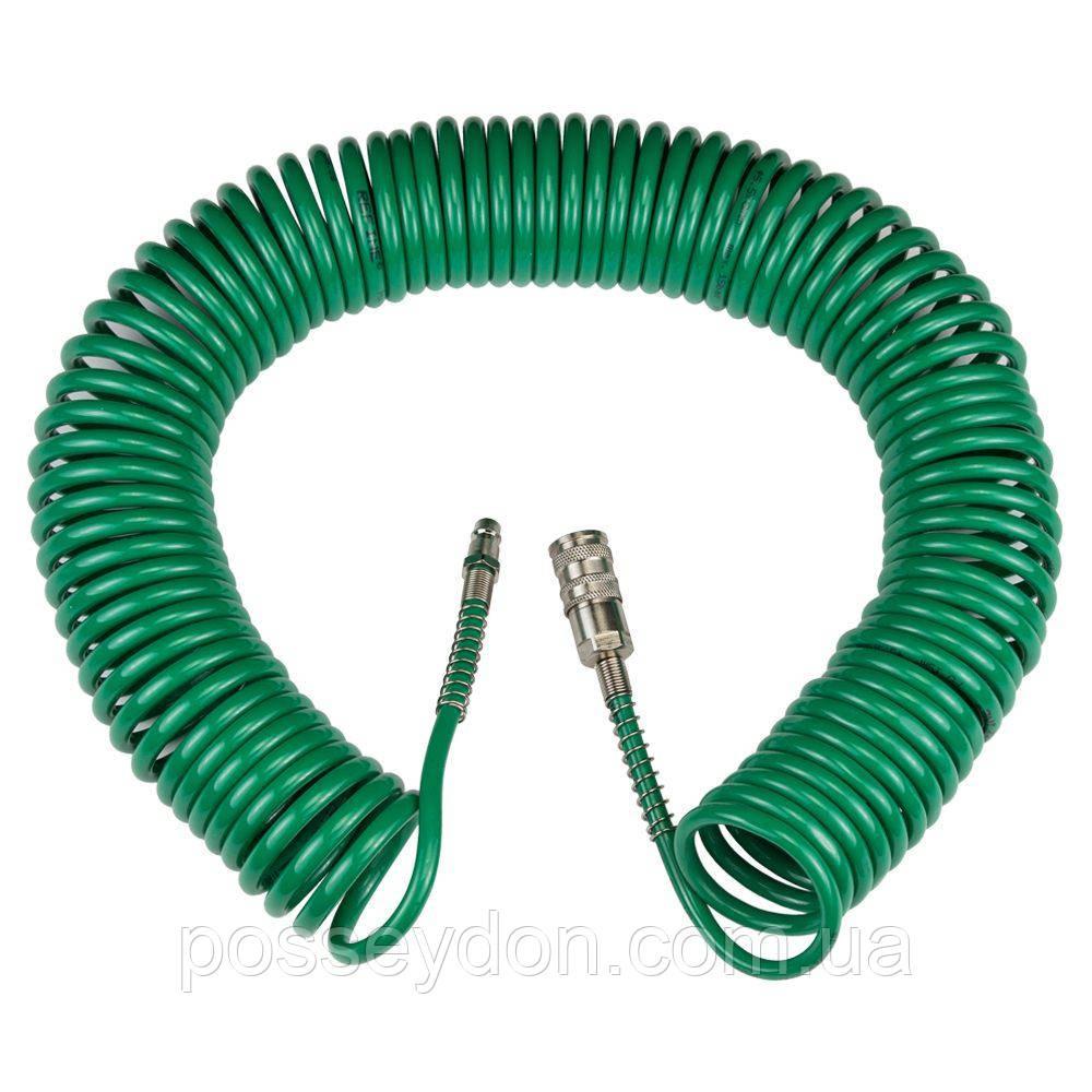 Шланг спиральный полиуретановый (PU) 15м 5.5×8мм REFINE (7012081)