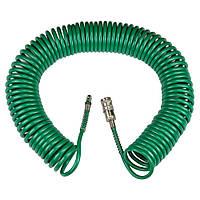 Шланг спиральный полиуретановый (PU) 15м 5.5×8мм REFINE (7012081), фото 1