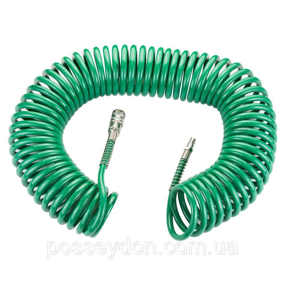 Шланг спиральный полиуретановый (PU) 15м 6.5×10мм REFINE (7012181)