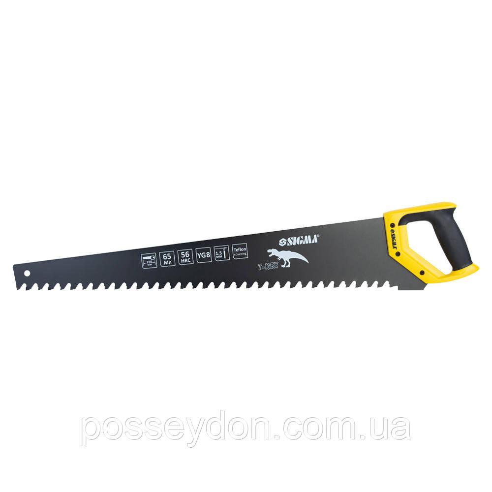 Ножовка по пенобетону с тефлоновым покрытием 700мм T-Rex SIGMA (4403261)