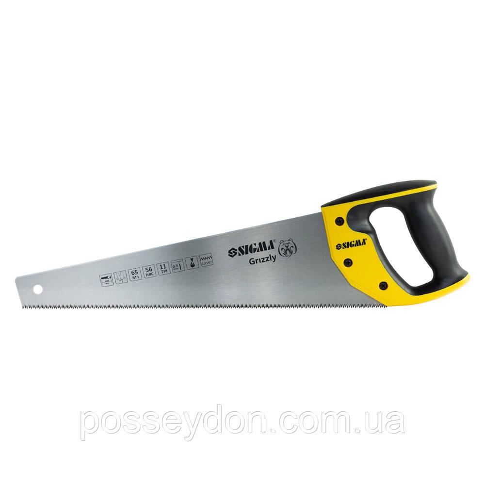 Ножовка по дереву 400мм 11TPI Grizzly SIGMA (4400871)