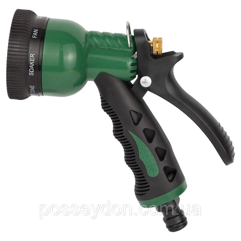 Пистолет распылитель 8-ми режимный металлический (ABS+TPR) GRAD (5012415)