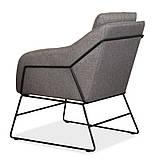 Мягкое кресло Дарио серое ткань Vetro Mebel (бесплатная доставка), фото 5