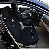 Универсальные чехлы на сидень авто полный комлект черный цвет, фото 5