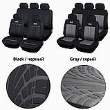 Универсальные чехлы на сидень авто полный комлект черный цвет, фото 3