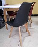 Пластиковий стілець P-01 чорний на букових ніжках Vetro Mebel, фото 4