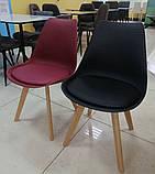 Пластиковий стілець P-01 чорний на букових ніжках Vetro Mebel, фото 5