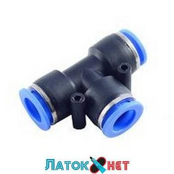 Фитинг T-образный для пластиковых трубок 10 мм RF-SPE10 Rock Force
