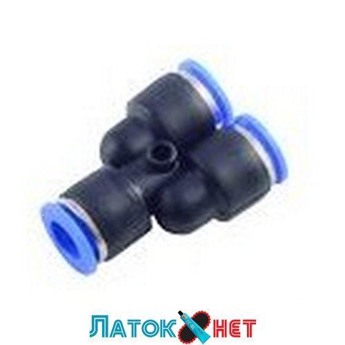 Фитинг Y-образный для пластиковых трубок 6 мм RF-SPY06 Rock Force