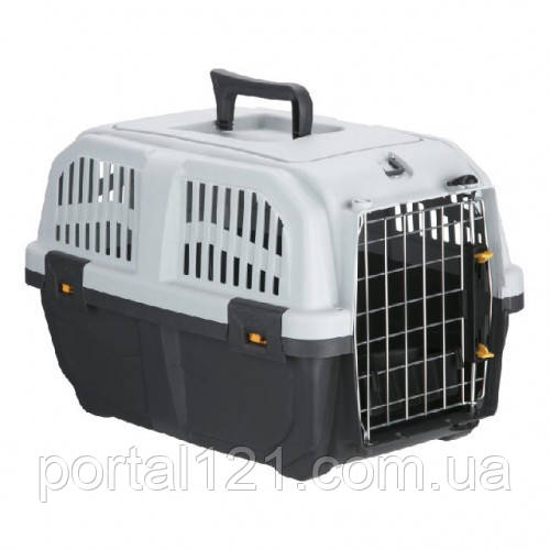 Переноска MPS Skudo 2 для кошек и собак мелких пород, серая, 55×36×35 см