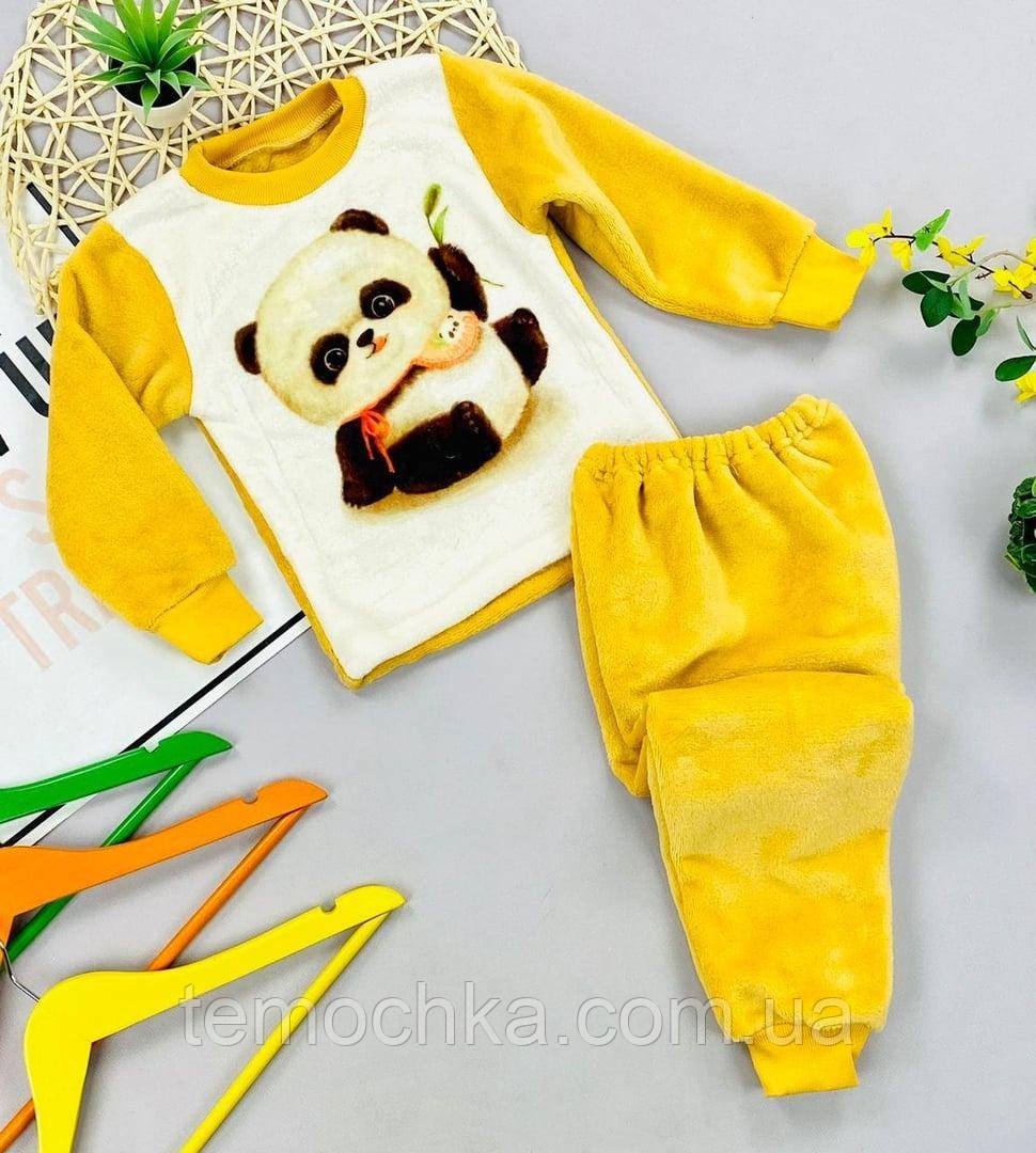Махрова тепла пухнаста піжама для дому та сну дитяча для хлопчика або дівчинки