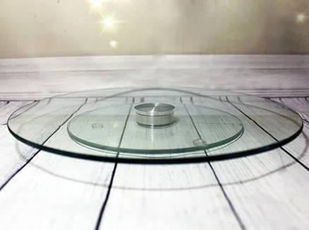 Блюдо-тортовница вращающаяся стеклянная на крутящейся ножке HLS 25 см (6840), фото 2