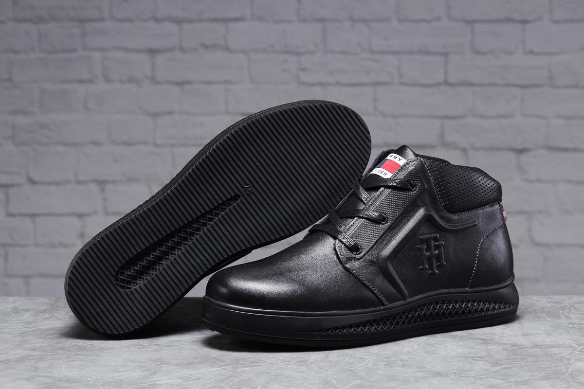 Зимние мужские ботинки 31522, Tommy Hilfiger Denim (мех), черные, [ 40 44 ] р. 40-26,5см.