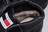 Зимние мужские ботинки 31522, Tommy Hilfiger Denim (мех), черные, [ 40 44 ] р. 40-26,5см., фото 7