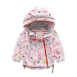 Куртка для девочки демисезонная Зайка Meanbear (90) 7 лет, 120, 120