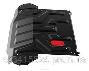 Защита двигателя Volkswagen Т5/ T6 (боковые крылья) (ДВС+КПП) (Щит)