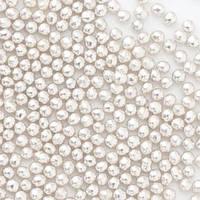 Кулькі цукрові d=2мм 50 г, срібні