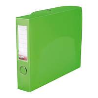 Папка-коробка сборная 55 мм, прозрачная зеленая